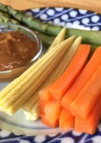 ブーブー蒸し野菜(黒豚みそ)