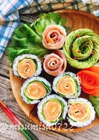 母の日ひな祭りに☆お花の巻き寿司(動画有