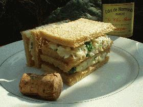 カリフラワーのサンドイッチ