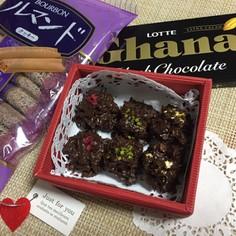 ガーナ&ルマンドで簡単バレンタインチョコ