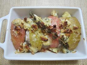 豚肉とりんごのブルーチーズ焼き