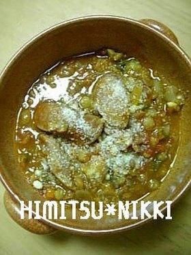 レンズ豆とソーセージ煮込☆野菜たっぷり☆