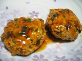 レンジで☆てりやき豆腐ハンバーグ