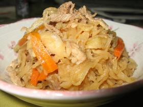 簡単!切干大根と豚肉のいため煮