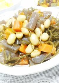 副菜*切り昆布と大豆の炒め煮(昆布つゆ)