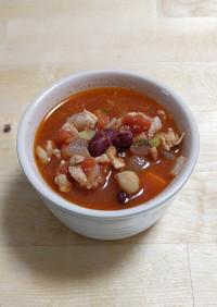 アレンジ自由自在♪チリコンカン風スープ