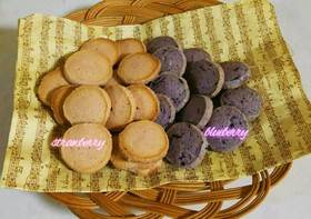 サクほろ♥苺のアイスボックスクッキー