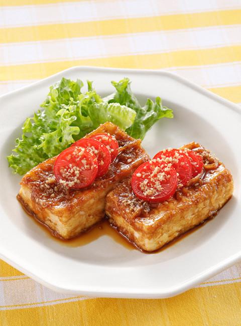 旦那さんも大満足の甘辛豆腐のステーキ