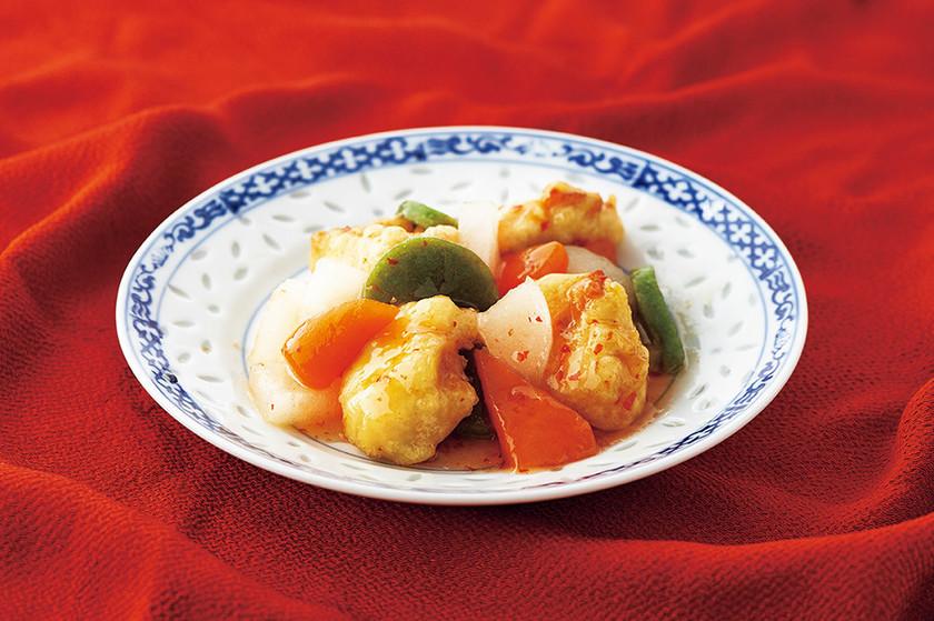 介護食 豚肉と彩り野菜のチリソース炒め