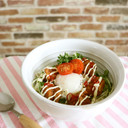 冷凍食品活用で簡単★温たまから揚げ丼