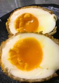 肉巻き半熟卵の串揚げ