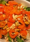 シーフードとパプリカトマトのマリネ