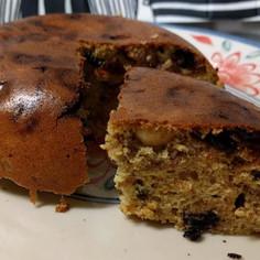 ドライフルーツ&ナッツの簡単大豆粉ケーキ