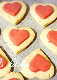 簡単かわいい二重ハートクッキー♡