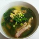 簡単!焼豚とほうれん草のかき玉スープ