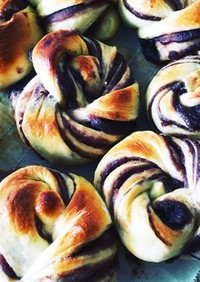あんパン(折り込みパン風)