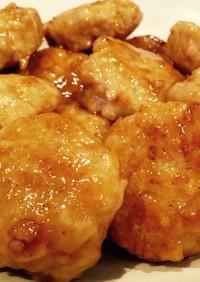 簡単★もちふわ大根入り鶏つくねの照り焼き