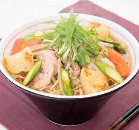 肉とゴロゴロ野菜のミソラーメン