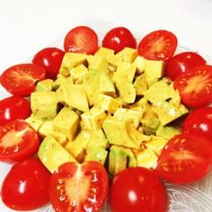 超簡単☆アボカドとチーズのお日さまサラダ