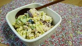 簡単おいしい☆キャベツと豆のデリ風サラダ