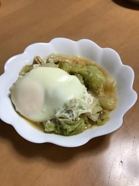 素朴な甘さ♡白菜・油揚げ・卵の煮物