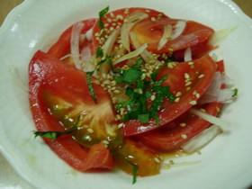 トマトのぽん酢サラダ