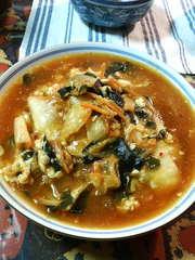 凍りしらたきでスープ@酸辛湯麺(風)の写真