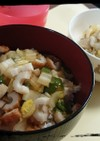 お昼ご飯に☆ちくわと白菜の煮込み丼
