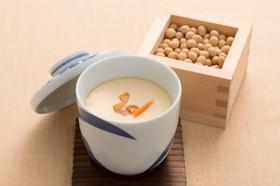 にんじんの皮の豆乳茶碗蒸し