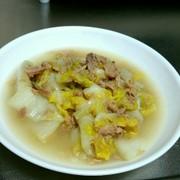 生姜香る白菜とツナの蒸し煮の写真