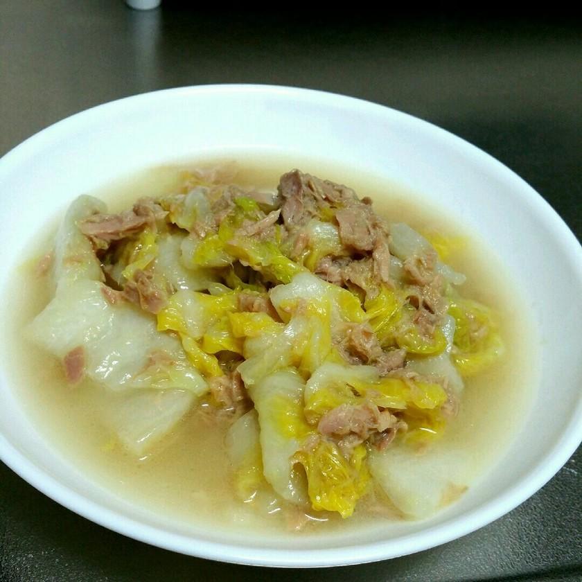 生姜香る白菜とツナの蒸し煮