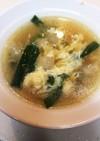 ニラ卵スープ