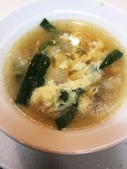 ニラ卵スープの写真