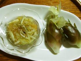 ソウメンウリとミョウガの酢味噌和え
