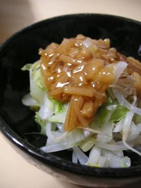 電子レンジで簡単白菜となめたけの和え物