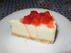 チーズケーキの味・・・でも豆腐ケーキ