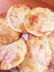 餃子の皮で甘いピザ風の写真