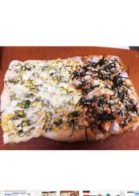 コーンマヨandもちピザ