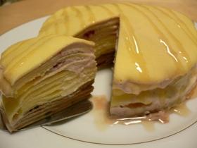 「アイス」ケーキミックス☆ミルクレープ風