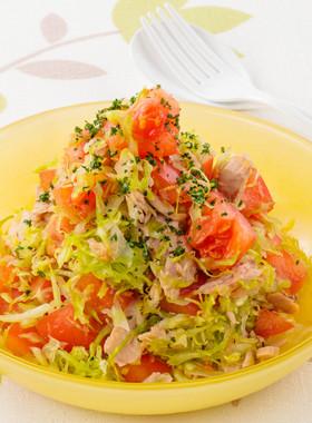 トマトとキャベツのコールスローサラダ