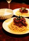 本格派のスパゲティ・ボロネーゼ