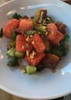 スイカと豚バラのサラダ