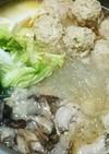 生姜と胡麻油香る 白菜トロっと鶏肉万歳鍋