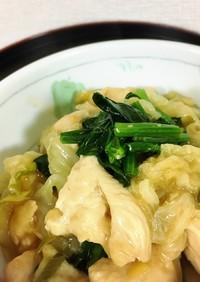 白菜と鶏むね肉のポン酢煮(幼児食にも)