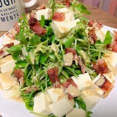 シンプル!豆苗と豆腐のサラダ♪