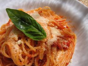 完熟味♪トマトソースのスパゲティ