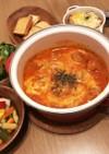 豚コマボールのトマトチーズ煮込み