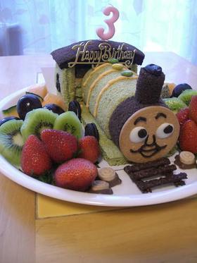 機関車トーマス☆パーシーケーキ♪