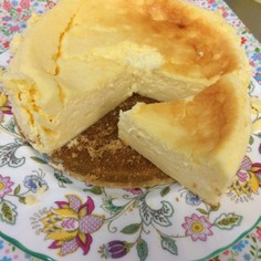 『半熟チーズケーキ 』材料少なく美味♡