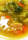 芽キャベツの生姜カレースープ